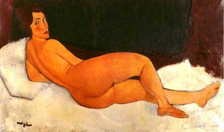 modigliani nude from rear